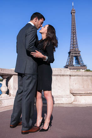Engaged Couple by Eiffel Tower