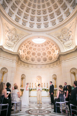 Wedding Ceremony in Paris Domed Chapel
