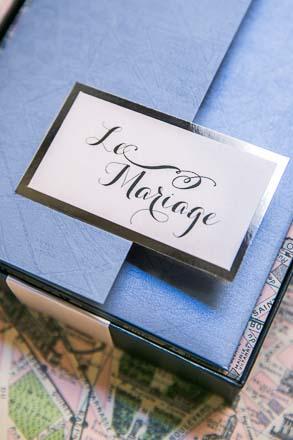 Wedding Stationary on Paris Map